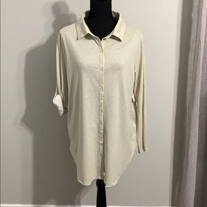 NWT Lularoe Valentina Button Down Shirt